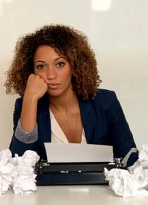12 Dec 2012 --- Businesswoman using typewriter --- Image by © Daniel Allan/cultura/Corbis